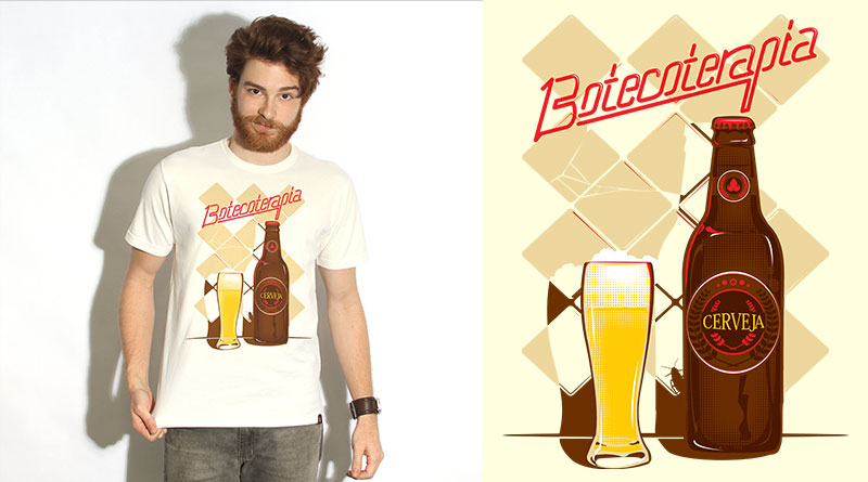 Botecoterapia: camiseta estampada do Camiseteria.com