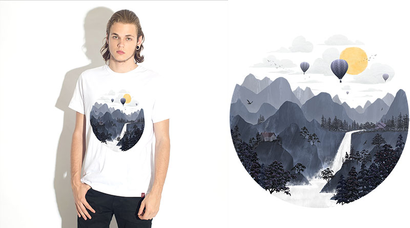 Roundscape II: camiseta estampada do Camiseteria.com