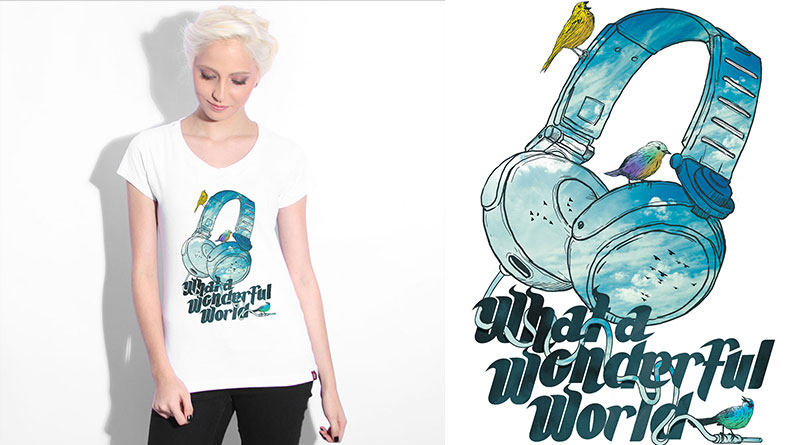 What a Wonderful World: camiseta estampada do Camiseteria.com