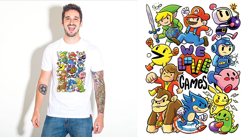 We Love Games: camiseta estampada do Camiseteria.com