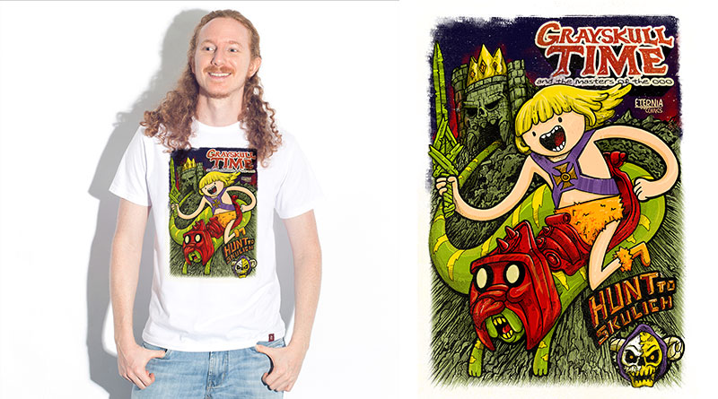 Grayskull Time: camiseta estampada do Camiseteria.com